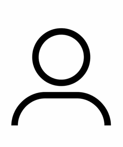 Person Icon vector outline symbol of user profile avatar for ui design in glyph pictogram illustration in PNG, EPS, SVG and JPG files.